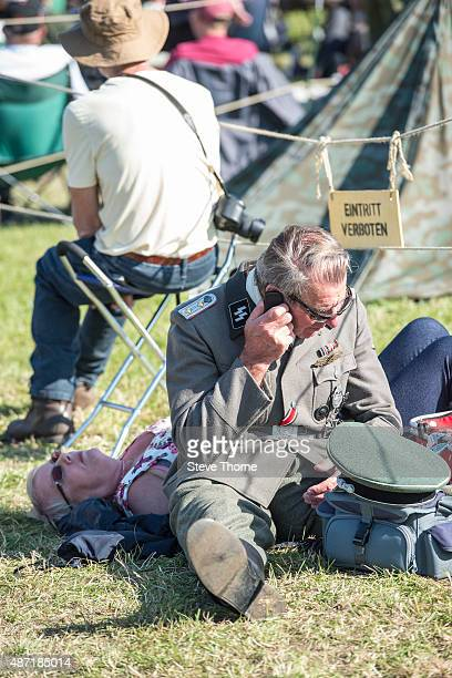 A general view of reenactment participants during the Victory Air Show in Leicestershire on September 6 2015 in Leicester England This is the 10th...