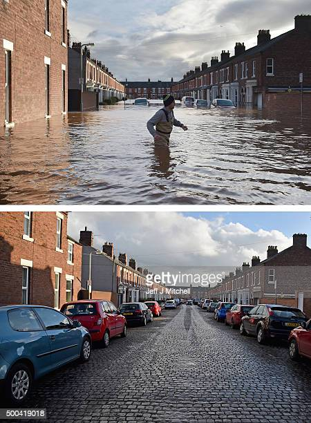 COMPOSITE IMAGE In this composite a comparison has been made between River Street photographed on December 6 2015 and on December 8 2015 CARLISLE...