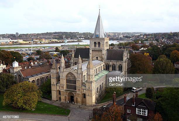 A general view of Rochester Cathedral on October 17 2014 in Rochester England Rochester and Strood will hold a byelection on November 20th following...