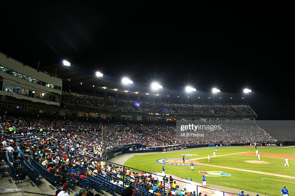 A general view of Rod Carew National Stadium from the left field upper deck during Game 6 of the Qualifying Round of the World Baseball Classic between Team Panama and Team Brazil at Rod Carew National Stadium on Monday, November 19, 2012 in Panama City, Panama.