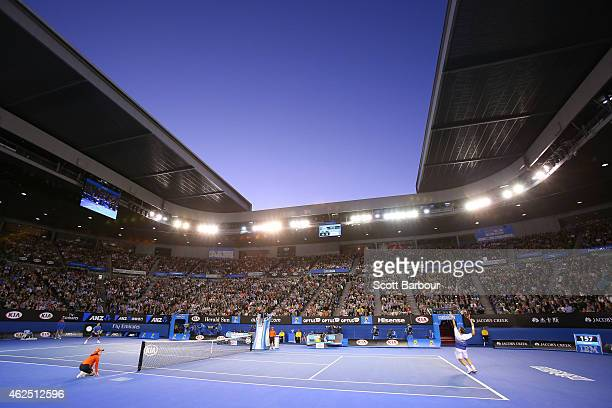 A general view of Rod Laver Arena during day 12 of the 2015 Australian Open at Melbourne Park on January 30 2015 in Melbourne Australia
