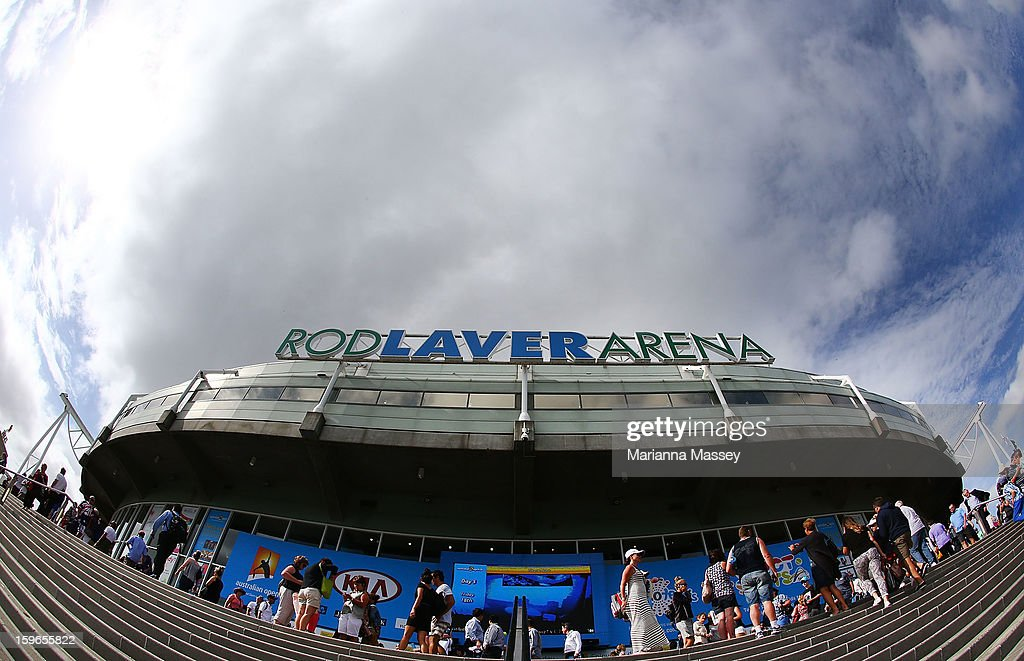 A general view of Rod Laver Arena during day five of the 2013 Australian Open at Melbourne Park on January 18 2013 in Melbourne Australia