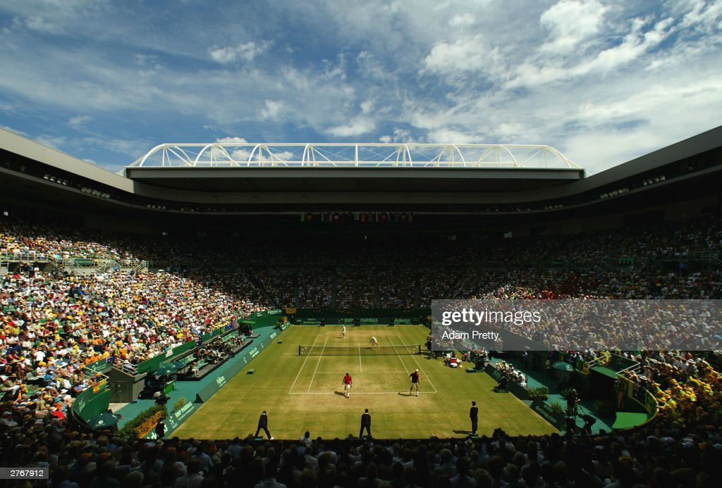 General view of Rod Laver Arena during the doubles of the Davis Cup Final between Australia and Spain at Rod Laver Arena November 29 2003 in...