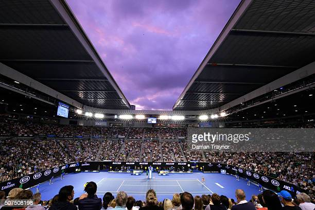 A general view of Rod Laver Arena during the Women's Final match between Serena Williams of the United States and Angelique Kerber of Germany during...