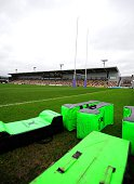 General view of Rodney Parade during the European Rugby Challenge Cup match between Newport Gwent Dragons and Pau at Rodney Parade on December 12...