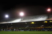 A general view of Rodney Parade during the LV = Anglo Welsh Cup match between Newport Gwent Dragons and Sale Sharks at Rodney Parade on November 6...
