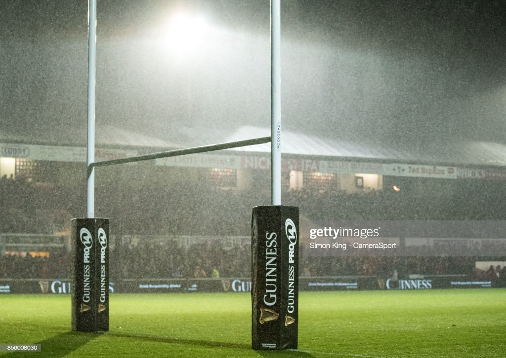 A general view of Rodney Parade, home of Dragons during the Guinness Pro14 Round 5 match between Dragons and Southern Kings at Rodney Parade on September 30, 2017 in Newport, Wales.