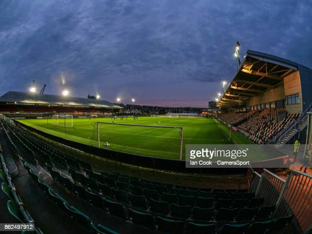 A general view of Rodney Parade home of Newport County FC during the Sky Bet League Two match between Newport County and Colchester United at Rodney...