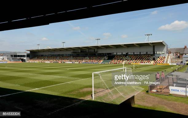 General view of Rodney Parade home to Newport County and Newport Gwent Dragons