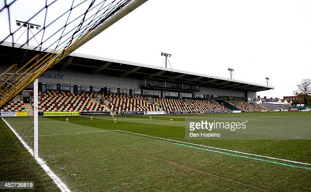 A general view of Rodney Parade prior to the Sky Bet League Two match between Newport County AFC and Chesterfield at Rodney Parade on December 01...