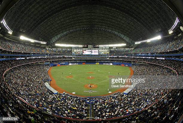 A general view of Rogers Centre as the Toronto Blue Jays face the Detroit Tigers during their MLB game at the Rogers Centre April 6 2009 in Toronto...