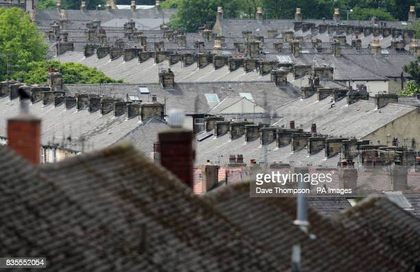 A general view of rooftops in Burnley Lancashire where the BNP today won its first county council seat Labour faced a routing in the town's local...