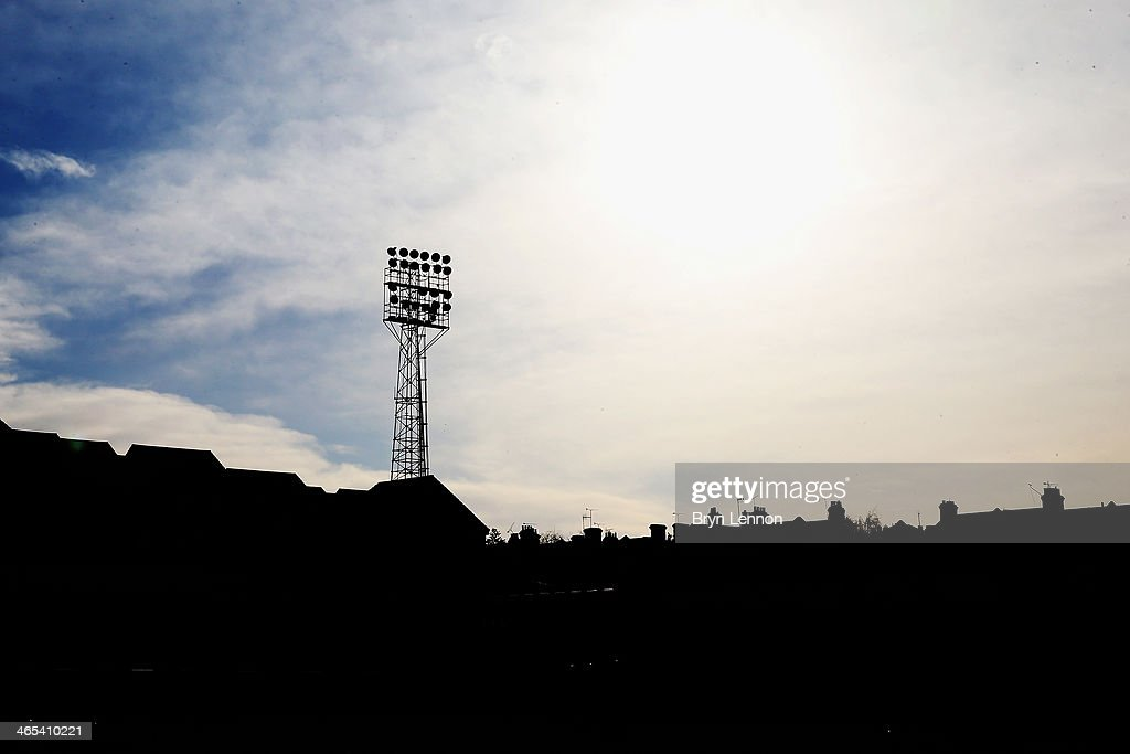A general view of Roots Hall prior to the FA Cup Fourth Round match between Southend United and Hull City at Roots Hall on January 25, 2014 in Southend, England.