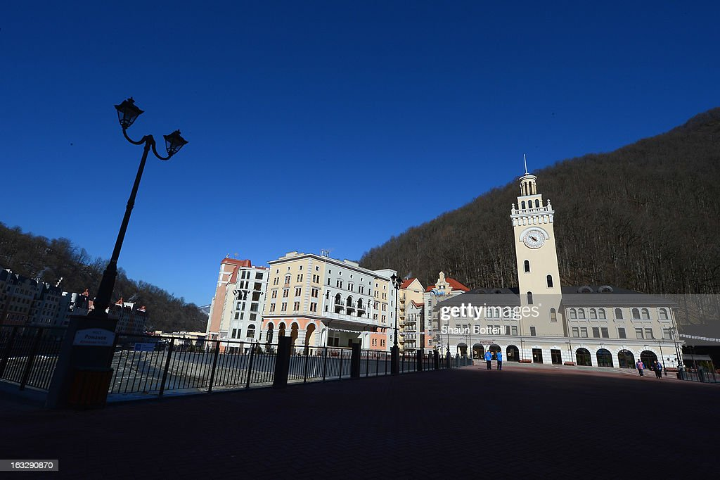 A general view of Rosa Khutor on March 7, 2013 in Sochi, Russia.