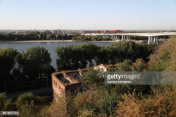 A general view of RostovonDon city is seen during a media tour of Russia 2018 FIFA World Cup venues on August 19 2017 in RostovonDon Russia