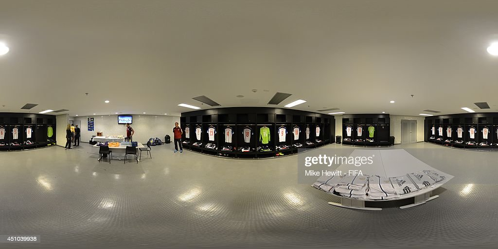 A general view of Russia dressing room before the 2014 FIFA World Cup Brazil Group H match between Belgium v Russia at Maracana on June 22, 2014 in Rio de Janeiro, Brazil.