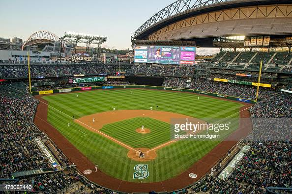 A general view of Safeco Field during a game between the Seattle Mariners and the Minnesota Twins on April 25 2015 in Seattle Washington The Twins...