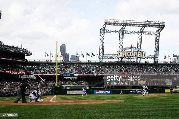 General view of Safeco Field during the opening day game between the Seattle Mariners and the Oakland Athletics on April 2 2007 in Seattle Washington...