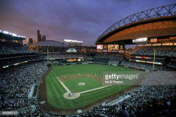 A general view of Safeco Field taken during a Seattle Mariner season game on July 15 1999 in Seattle Washington