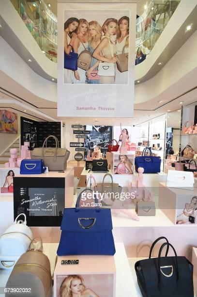 A general view of Samantha Thavasa Digital Popup Omotesando Store on April 27 2017 in Tokyo Japan