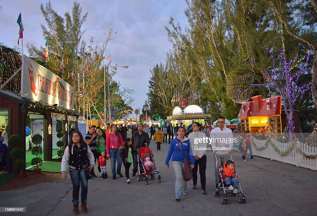 General view of Santa's Enchanted Forest on December 23, 2012 in Miami, Florida.