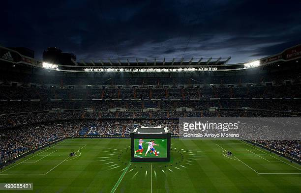 General view of Santiago Bernabeu Stadium during the UEFA Champions League Final match between Real Madrid CF and Club Atletico de Madrid on May 24...