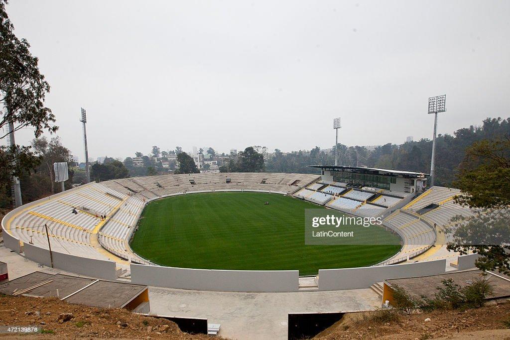 General view of Sausalito Stadium of Viña del Mar ahead of Copa America Chile 2015 on April 24 2015 in Viña del Mar Chile