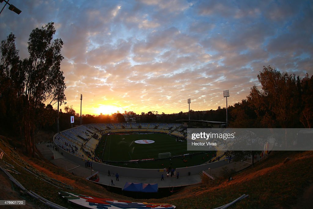 General view of Sausalito Stadium prior the 2015 Copa America Chile Group A match between Mexico and Bolivia at Sausalito Stadium on June 12 2015 in...