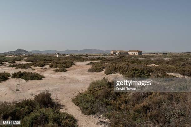 A general view of seaside fields near the El Mar Menor Sea on July 28 2017 in Los Alcazares Spain El Campo de Cartagena is located along the seaside...