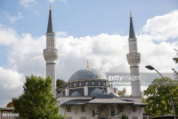 A general view of Sehitlik mosque which is mostly Turkish on Open Mosque Day on October 3 2017 in Berlin Germany Hundreds of mosques participate in...