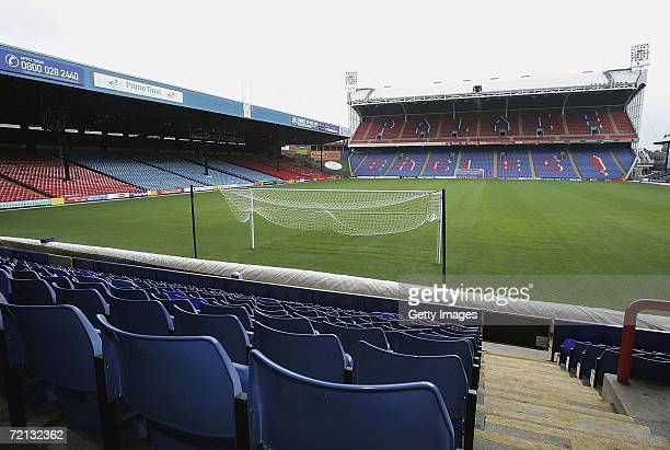 General view of Selhurst Park home of Crystal Palace Football Club on the day that the freehold of the stadium was sold for GBP12million on October...