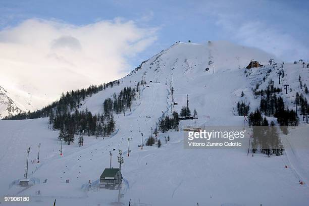 A general view of Sestriere during the 5th World Stars Ski Event in Sestriere on March 20 2010 in Turin Italy