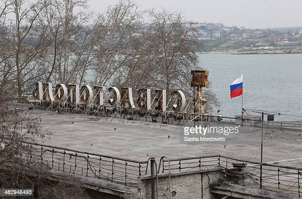 A general view of Sevastoplol on April 5 2014 in Sevastopol in the disputed Crimean Peninsula Many Ukrainian banks are already closed in Crimea...