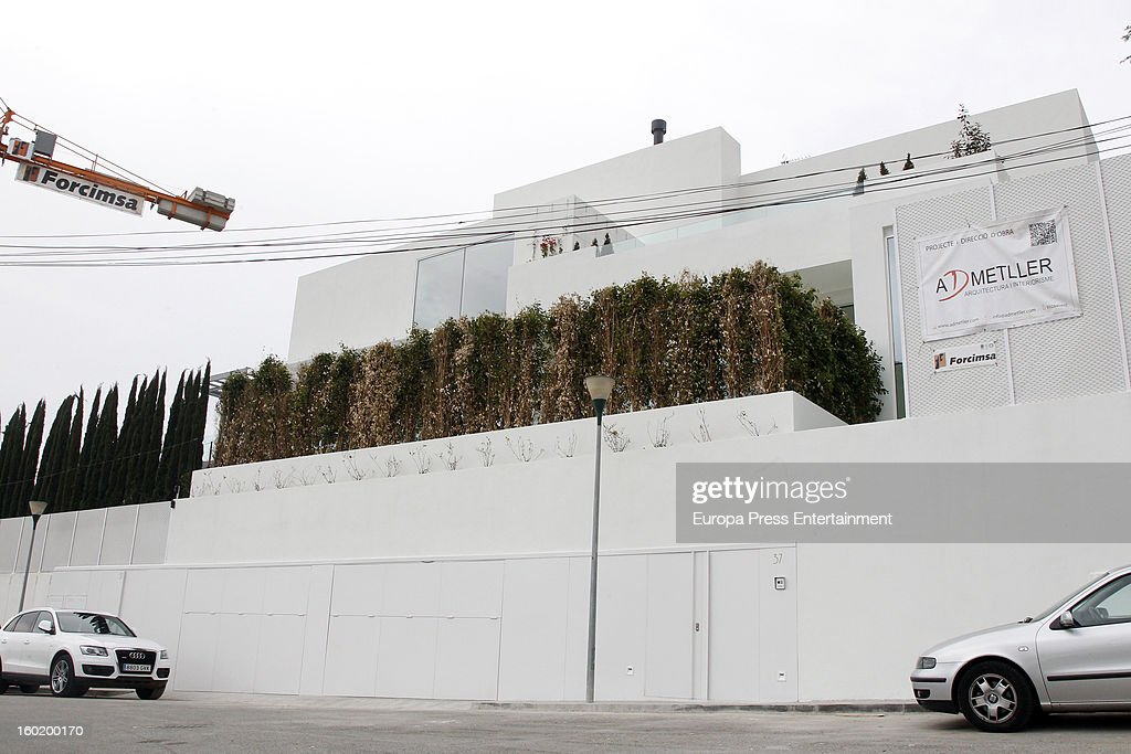 General view of Shakira and Gerard Pique's home on January 27, 2013 in Barcelona, Spain.