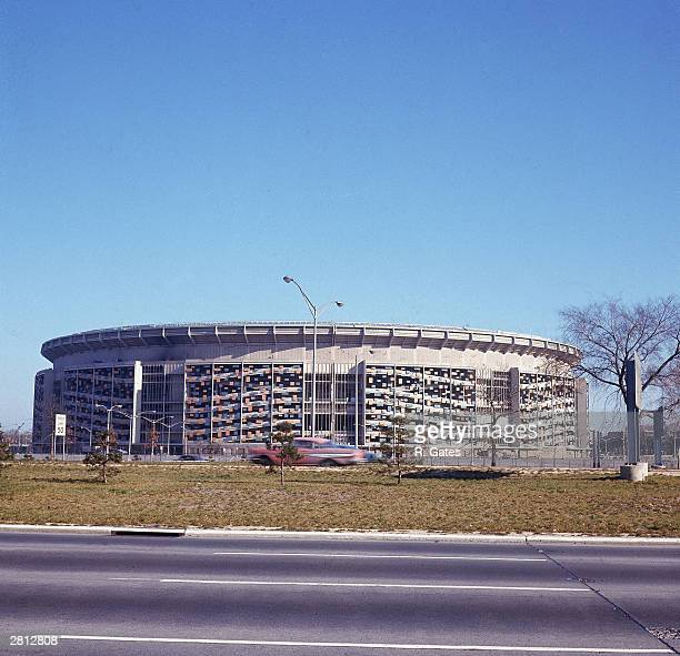 A general view of Shea Stadium home stadium of the New York Mets New York City circa 1960