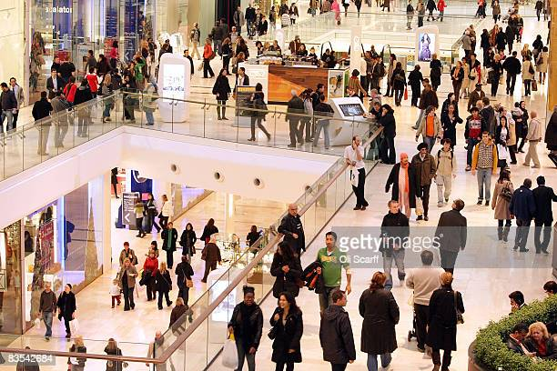 A general view of shoppers at the newly opened Westfield shopping centre on November 3 2008 in the west London England Despite the current economic...