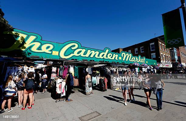 A general view of shopping at Camden Market ahead of the London 2012 Olympic Games on July 23 2012 in London England