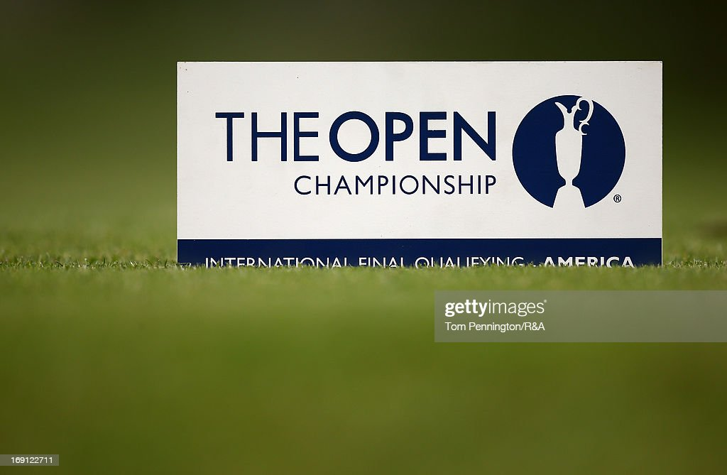 A general view of signage during The Open Championship International Final Qualifying America at Gleneagles Golf and Country Club on May 20, 2013 in Plano, Texas.