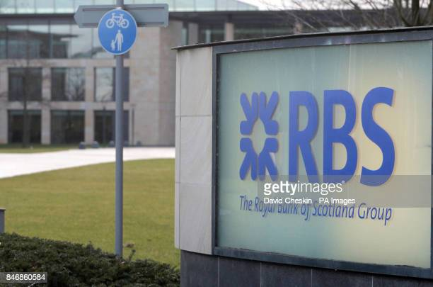 A general view of signage outside the Royal Bank of Scotland headquarters in Edinburgh as David Cameron was accused of a disgraceful failure of...