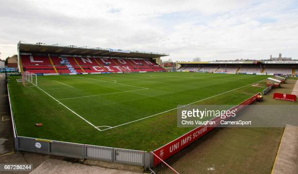 A general view of Sincil Bank home of Lincoln City prior to the Vanarama National League match between Lincoln City and Chester at Sincil Bank...