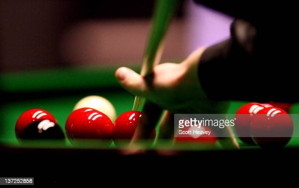A general view of snooker balls during day three of the The Masters at Alexandra Palace on January 17 2012 in London England
