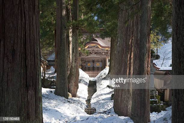 A general view of snowscape of Eiheiji Temple on January 22 2009 in Eiheiji Fukui Japan