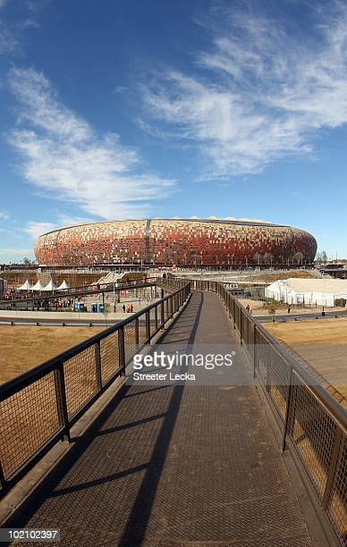 A general view of Soccer City before the 2010 FIFA World Cup Group E match between Netherlands and Denmark at Soccer City Stadium on June 14 2010 in...