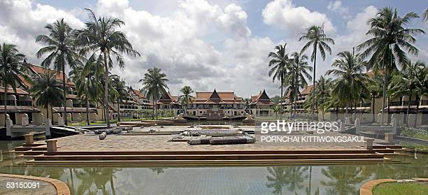 General view of Sofitel hotel which was damaged during the deadly 26 December tsunami in Khao Lak resort of Phang Nga province southern Thailand 25...