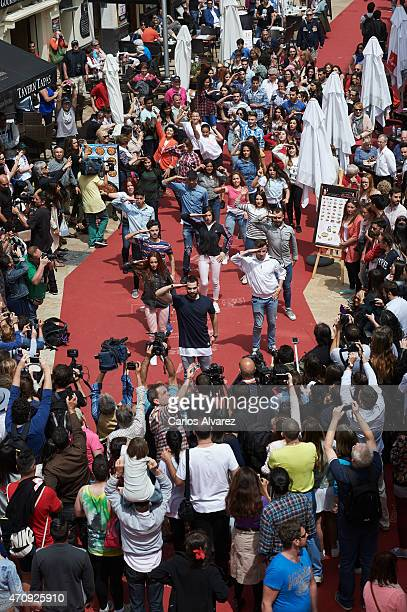 General view of 'Solo Quimica' Flash Mob during the 18th Malaga Film Festival on April 24 2015 in Malaga Spain