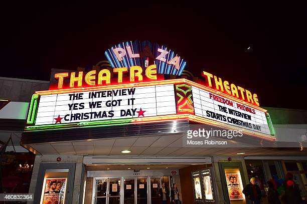 General view of Sony Pictures' release of 'The Interview' at the Plaza Theater on Christmas Day December 25 2014 in Atlanta Georgia Sony hackers have...