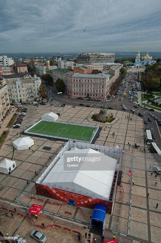 A general view of Sophia Square at the UEFA Champions League Trophy Tour 2011 on September 30, 2011 in Kiev, Ukraine.