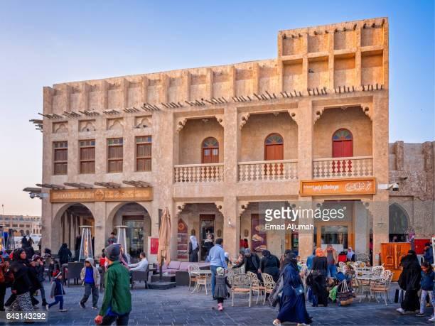General view of Souq Waqif, Doha, Qatar - February 4, 2017
