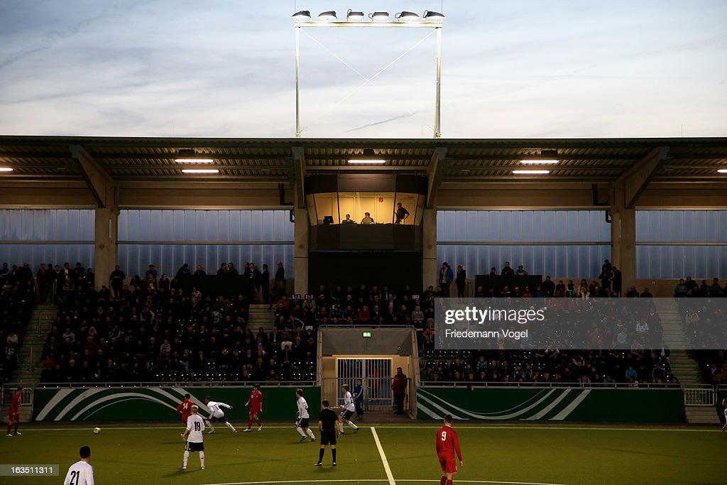 A general view of speaker cab during the U17 International Friendly match between Germany and Georgia at Toennies-Arena on March 6, 2013 in Rheda-Wiedenbruck, Germany.