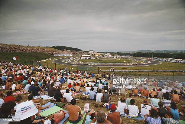 General view of spectators watching the Hungarian Grand Prix on 13th August 1989 at the Hungaroring Circuit Budapest Hungary